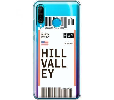 Силиконовый чехол BoxFace Huawei P30 Lite Ticket Hill Valley (36872-cc94)