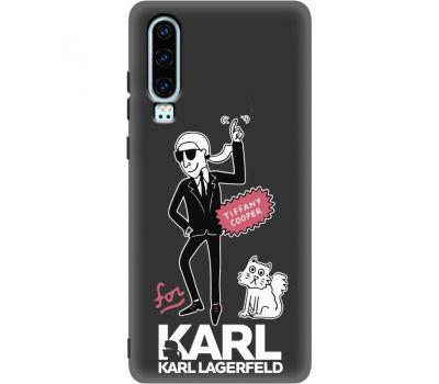 Силиконовый чехол BoxFace Huawei P30 For Karl (37049-bk38)
