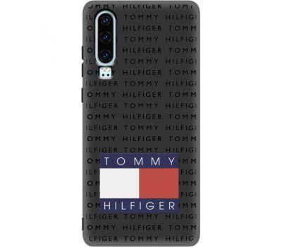 Силиконовый чехол BoxFace Huawei P30 Tommy Print (37049-bk47)