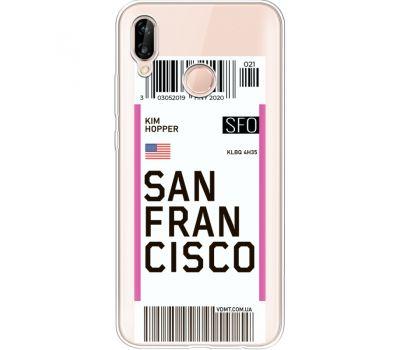 Силиконовый чехол BoxFace Huawei P20 Lite Ticket  San Francisco (34991-cc79)