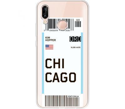 Силиконовый чехол BoxFace Huawei P20 Lite Ticket Chicago (34991-cc82)