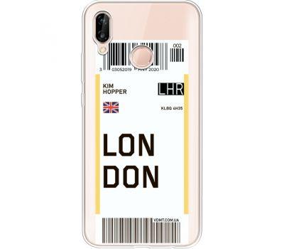 Силиконовый чехол BoxFace Huawei P20 Lite Ticket London (34991-cc83)