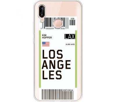 Силиконовый чехол BoxFace Huawei P20 Lite Ticket Los Angeles (34991-cc85)