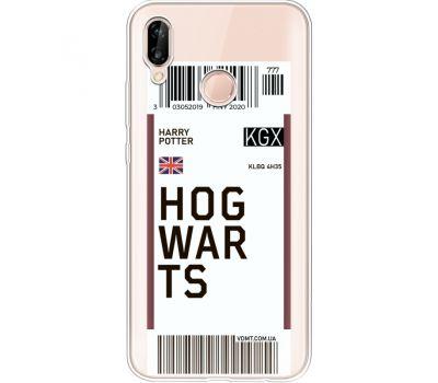 Силиконовый чехол BoxFace Huawei P20 Lite Ticket Hogwarts (34991-cc91)