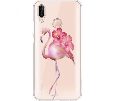 Силиконовый чехол BoxFace Huawei P20 Lite Floral Flamingo (34991-cc12)