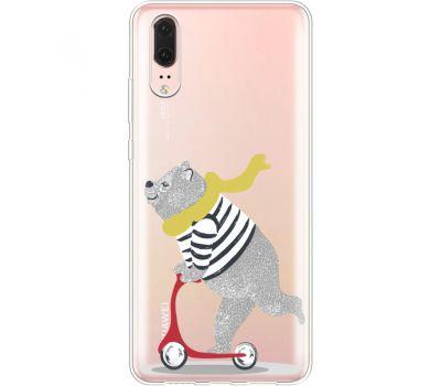 Силиконовый чехол BoxFace Huawei P20 Happy Bear (35581-cc10)