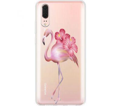 Силиконовый чехол BoxFace Huawei P20 Floral Flamingo (35581-cc12)
