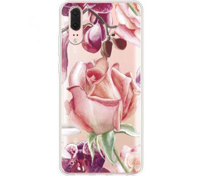Силиконовый чехол BoxFace Huawei P20 Rose (35581-cc27)