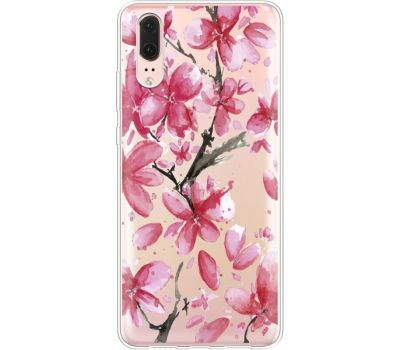 Силиконовый чехол BoxFace Huawei P20 Pink Magnolia (35581-cc37)
