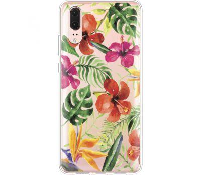 Силиконовый чехол BoxFace Huawei P20 Tropical Flowers (35581-cc43)