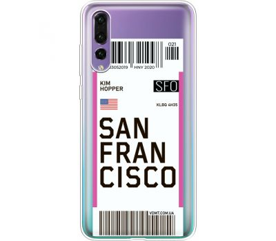 Силиконовый чехол BoxFace Huawei P20 Pro Ticket  San Francisco (36195-cc79)