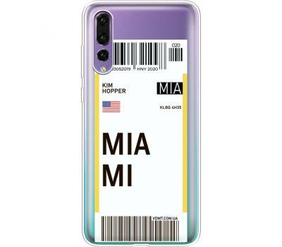 Силиконовый чехол BoxFace Huawei P20 Pro Ticket Miami (36195-cc81)