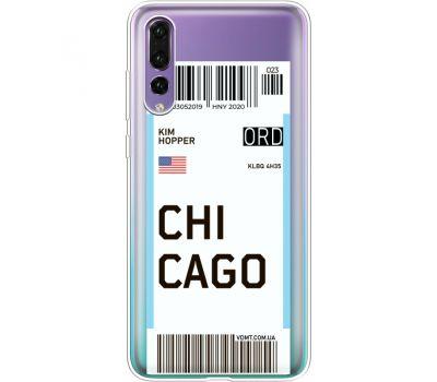 Силиконовый чехол BoxFace Huawei P20 Pro Ticket Chicago (36195-cc82)