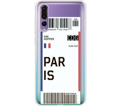 Силиконовый чехол BoxFace Huawei P20 Pro Ticket Paris (36195-cc86)