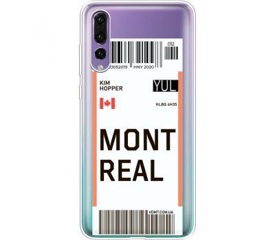 Силиконовый чехол BoxFace Huawei P20 Pro Ticket Monreal (36195-cc87)