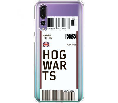 Силиконовый чехол BoxFace Huawei P20 Pro Ticket Hogwarts (36195-cc91)