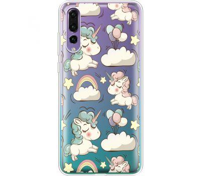 Силиконовый чехол BoxFace Huawei P20 Pro Unicorns (36195-cc2)
