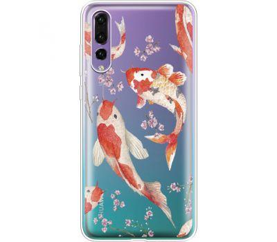 Силиконовый чехол BoxFace Huawei P20 Pro Japanese Koi Fish (36195-cc3)