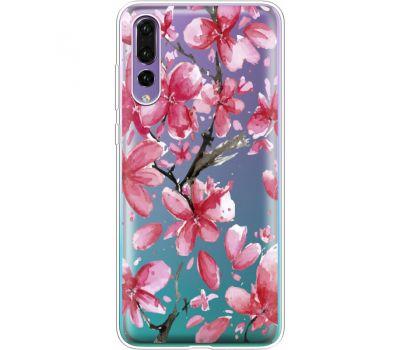 Силиконовый чехол BoxFace Huawei P20 Pro Pink Magnolia (36195-cc37)
