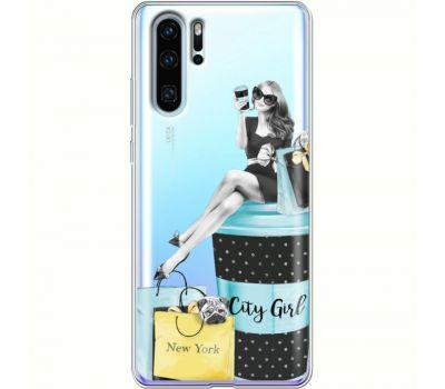 Силиконовый чехол BoxFace Huawei P30 Pro City Girl (36856-cc56)