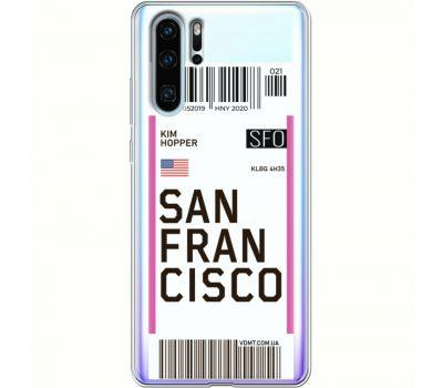 Силиконовый чехол BoxFace Huawei P30 Pro Ticket  San Francisco (36856-cc79)