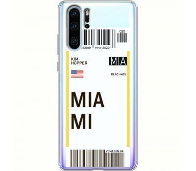 Силиконовый чехол BoxFace Huawei P30 Pro Ticket Miami (36856-cc81)