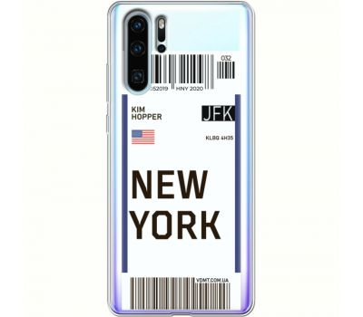 Силиконовый чехол BoxFace Huawei P30 Pro Ticket New York (36856-cc84)