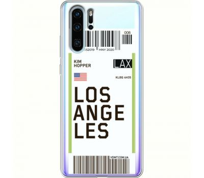 Силиконовый чехол BoxFace Huawei P30 Pro Ticket Los Angeles (36856-cc85)