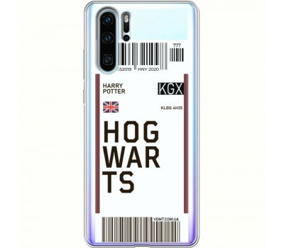 Силиконовый чехол BoxFace Huawei P30 Pro Ticket Hogwarts (36856-cc91)