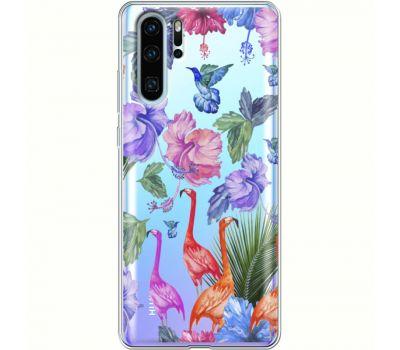 Силиконовый чехол BoxFace Huawei P30 Pro Flamingo (36856-cc40)