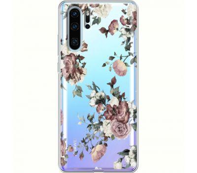 Силиконовый чехол BoxFace Huawei P30 Pro Roses (36856-cc41)