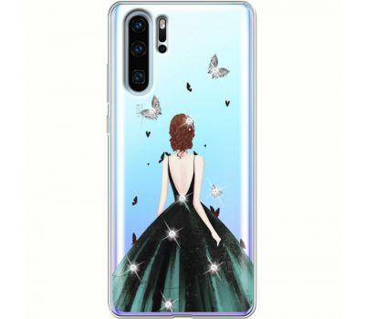Силиконовый чехол BoxFace Huawei P30 Pro Girl in the green dress (936856-rs13)