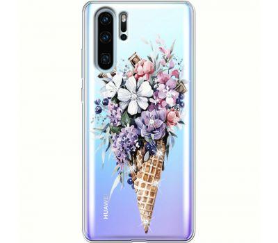 Силиконовый чехол BoxFace Huawei P30 Pro Ice Cream Flowers (936856-rs17)