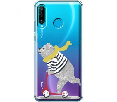 Силиконовый чехол BoxFace Huawei P30 Lite Happy Bear (36872-cc10)