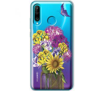 Силиконовый чехол BoxFace Huawei P30 Lite My Bouquet (36872-cc20)