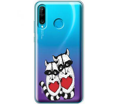 Силиконовый чехол BoxFace Huawei P30 Lite Raccoons in love (36872-cc29)