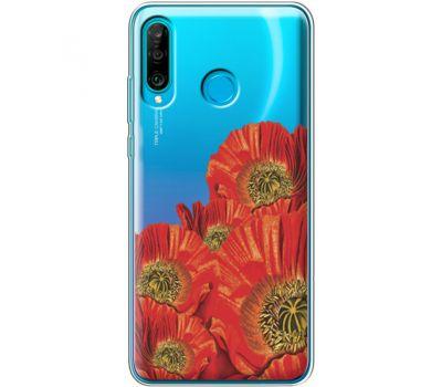 Силиконовый чехол BoxFace Huawei P30 Lite Red Poppies (36872-cc44)