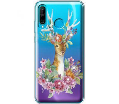Силиконовый чехол BoxFace Huawei P30 Lite Deer with flowers (936872-rs5)