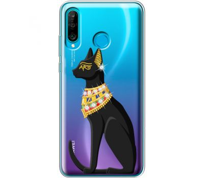 Силиконовый чехол BoxFace Huawei P30 Lite Egipet Cat (936872-rs8)