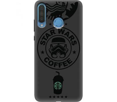 Силиконовый чехол BoxFace Huawei P30 Lite Dark Coffee (37511-bk42)
