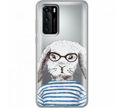 Силиконовый чехол BoxFace Huawei P40 MR. Rabbit (39747-cc71)