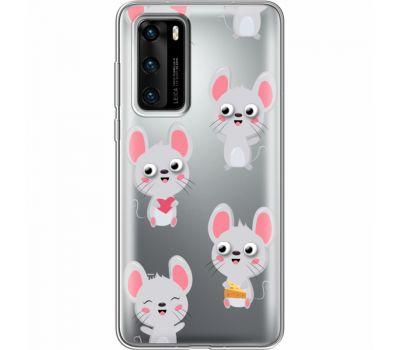 Силиконовый чехол BoxFace Huawei P40 с 3D-глазками Mouse (39747-cc76)