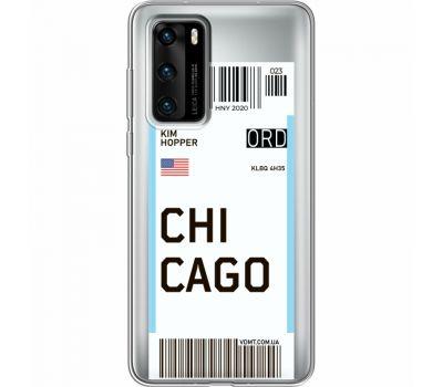 Силиконовый чехол BoxFace Huawei P40 Ticket Chicago (39747-cc82)