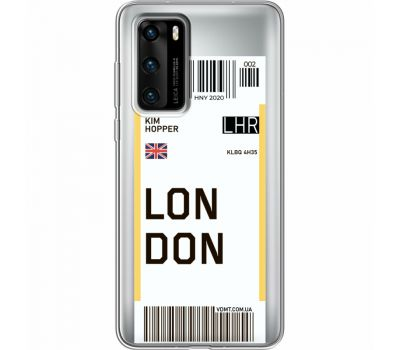 Силиконовый чехол BoxFace Huawei P40 Ticket London (39747-cc83)