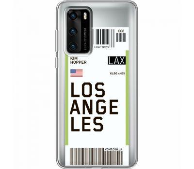 Силиконовый чехол BoxFace Huawei P40 Ticket Los Angeles (39747-cc85)