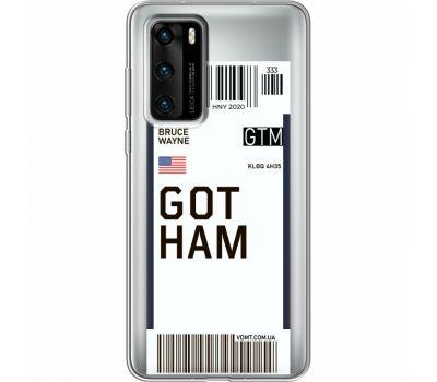 Силиконовый чехол BoxFace Huawei P40 Ticket Gotham (39747-cc92)