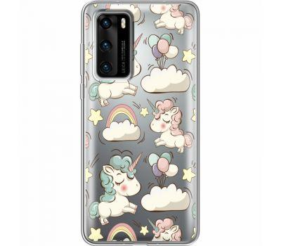 Силиконовый чехол BoxFace Huawei P40 Unicorns (39747-cc2)