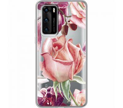Силиконовый чехол BoxFace Huawei P40 Rose (39747-cc27)