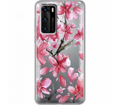 Силиконовый чехол BoxFace Huawei P40 Pink Magnolia (39747-cc37)