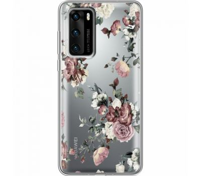 Силиконовый чехол BoxFace Huawei P40 Roses (39747-cc41)